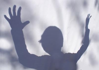 Schatten eines Kindes