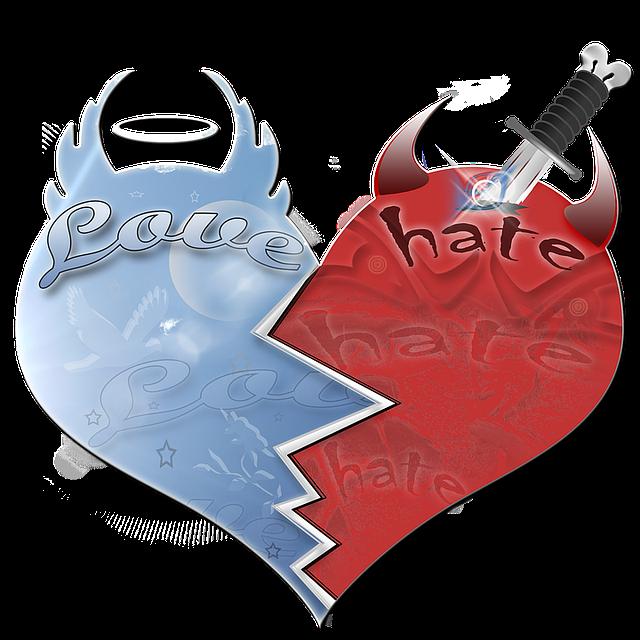 Liebe und Hass zerreißen ein Herz