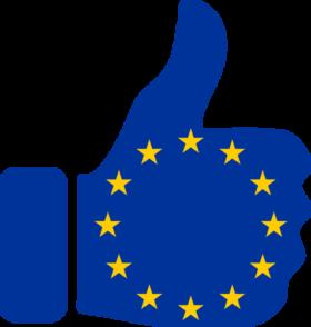 Europa Daumen hoch