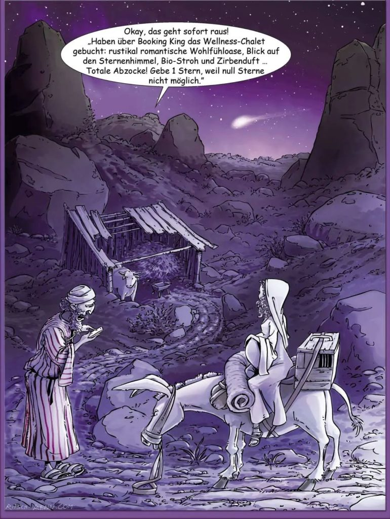 Maria und Josef erreichen den Stall